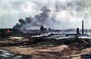 The Russian city of Vitebsk after the fighting in 1941