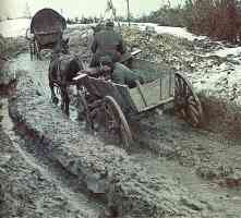 Through the endless mud in Russia