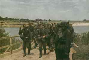 army soldiers on the march through Russia