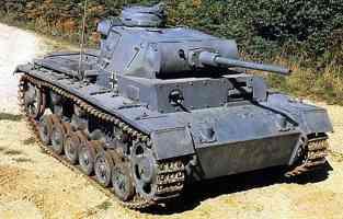 grey Panzer III tank