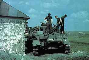 rear of Panzer IV tank in Russia 1943