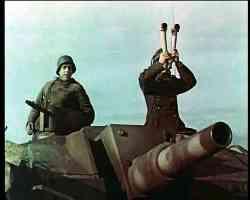 tank commander with telescope