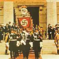 the Leibstandarte of Adolf Hitler in parade formation
