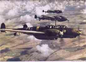 three Me110s in flight