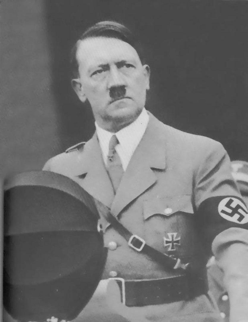 Hitler Addressing Crowd