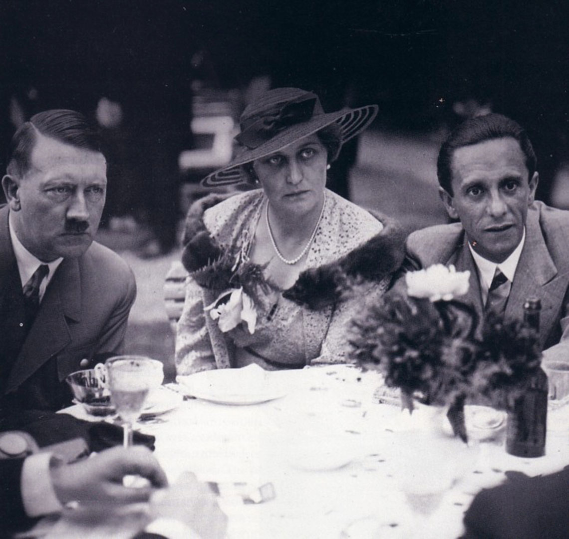 Hitler And Goebbels Having Lunch With A Lady