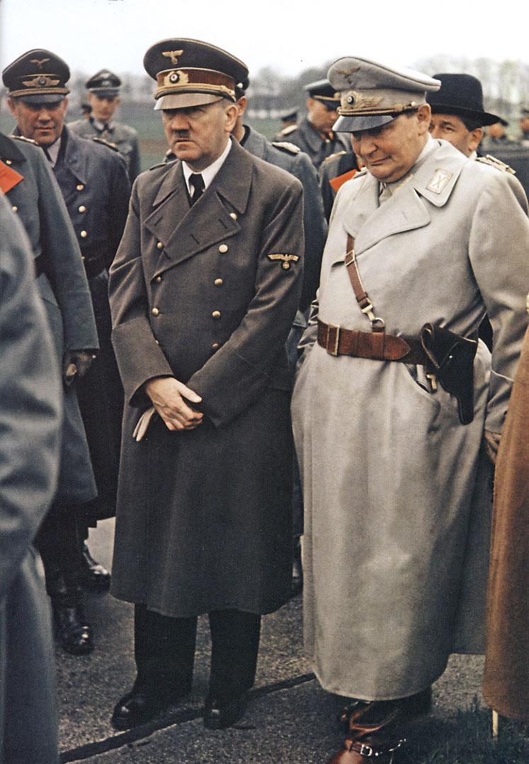 Hitler And Goering Looking Solemn