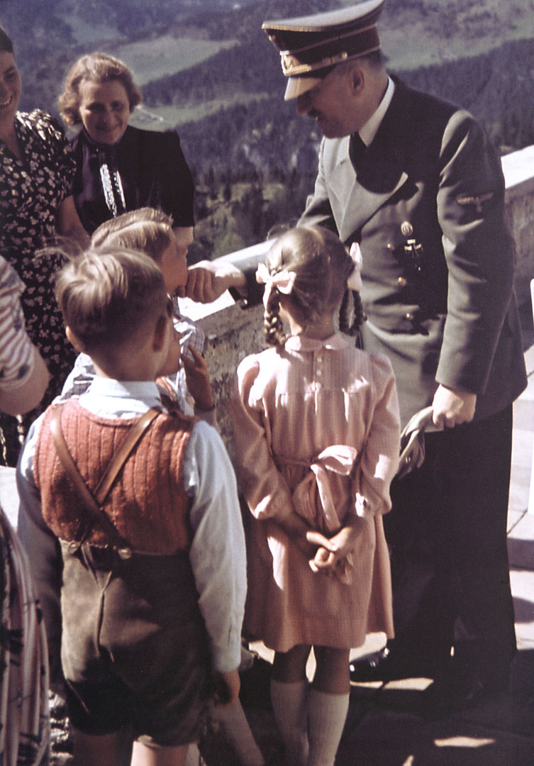 Hitler Chatting With Kids At Eagles Nest