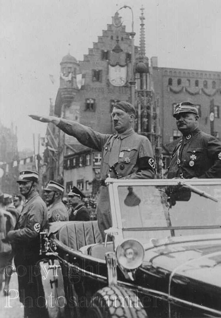 Hitler Giving Nazi Salute