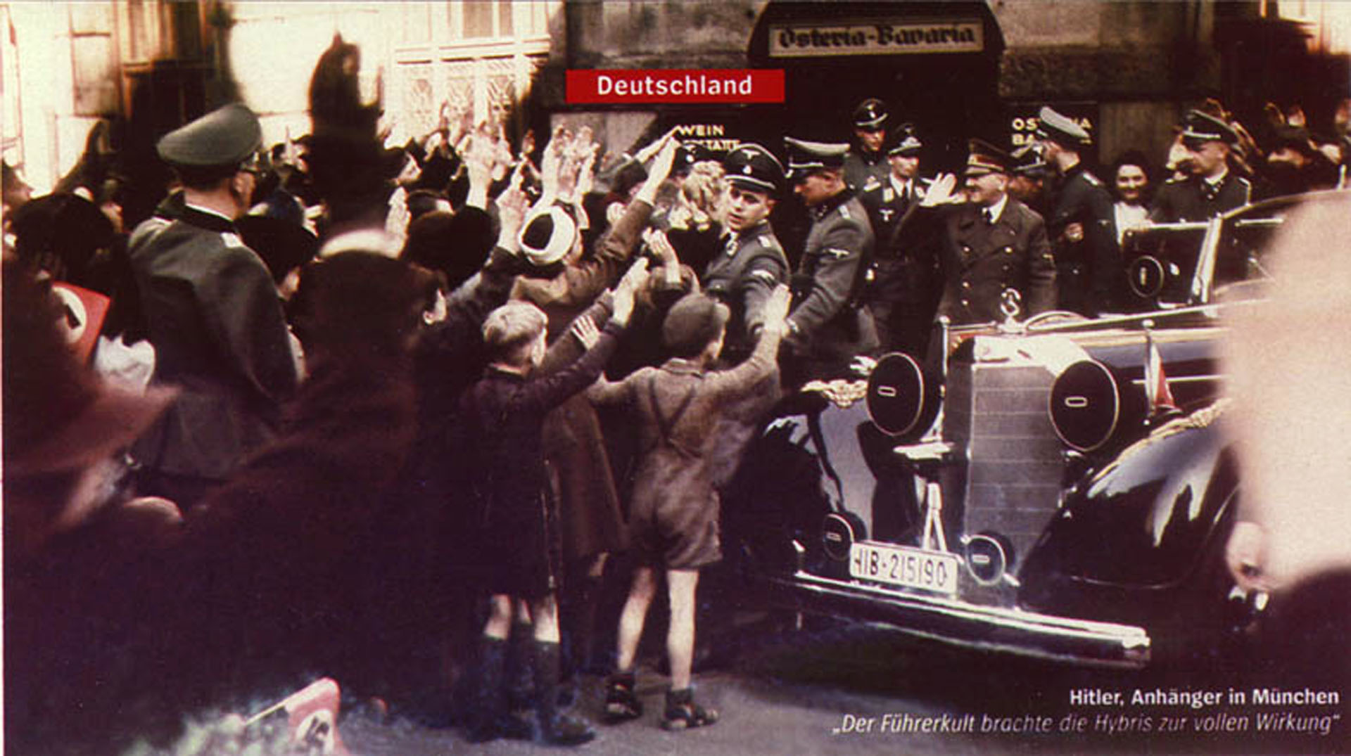 Hitler Greeting Crowds In Munich