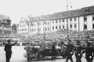 hitler at rally in bavaria