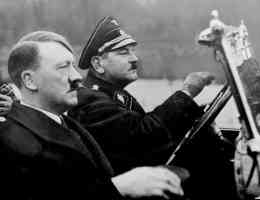 hitler driving in a car