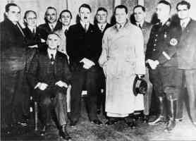 hitler goring goebels hess and others in photo opportunity