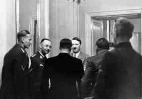 hitler himmler and heydrich meet the german clique in hradcany castle prague czechoslovakia