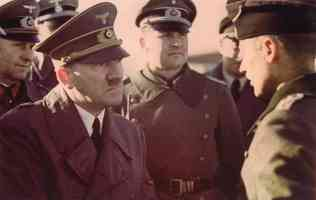 hitler listening to a soldier
