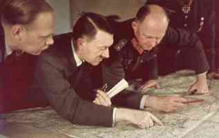 hitler planning his strategy