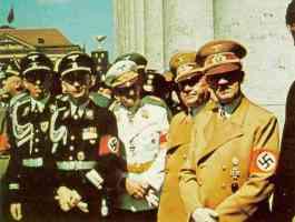 hitler with goering goebbels and himmler in full nazi uniform