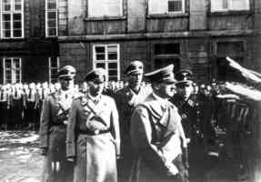 inspecting hitler youth parade