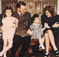 with eva braun and two children