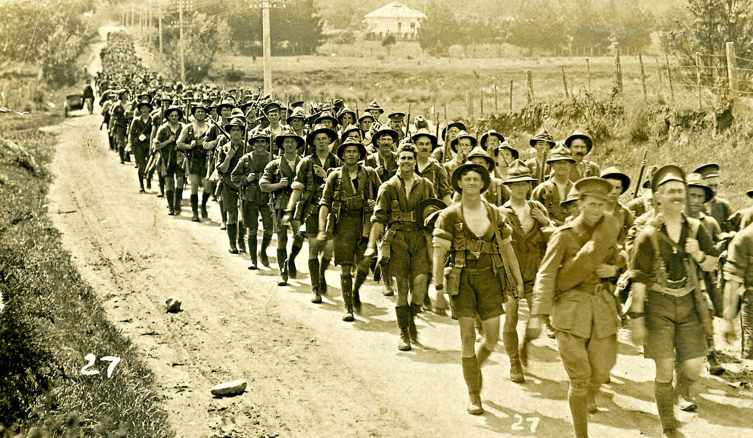 Wellington New Zealand Soldiers Marching To War