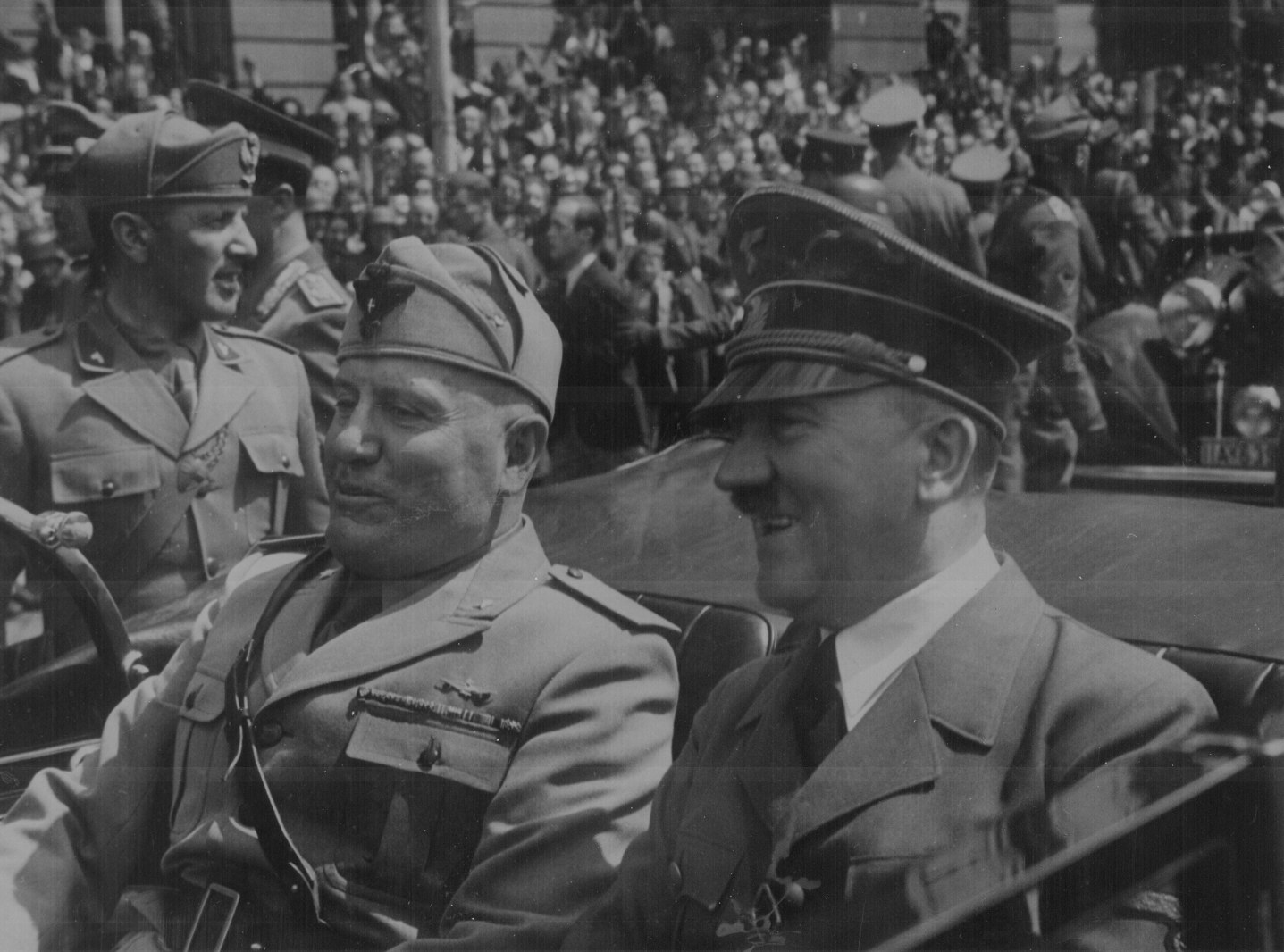 Mussolini And Hitler - World War Two Wallpaper