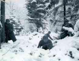 americans battle of bulge snow