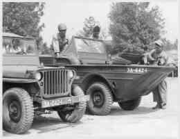 jeep and amphibious vehicle