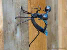 metal praying mantis