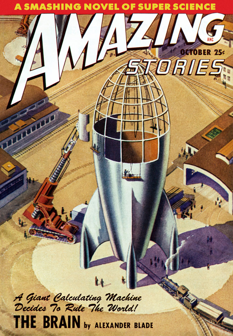 Amazing Stories Featuring The Brain - Sci Fi Magazine Covers