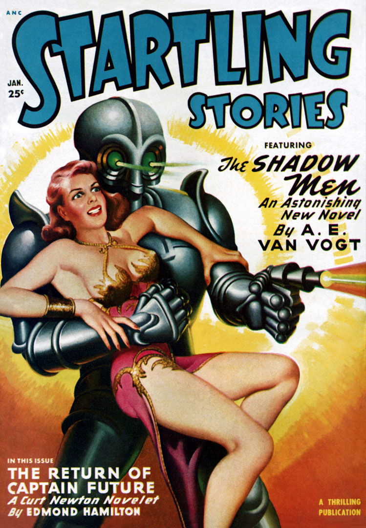 Startling Stories Featuring The Shadow Men