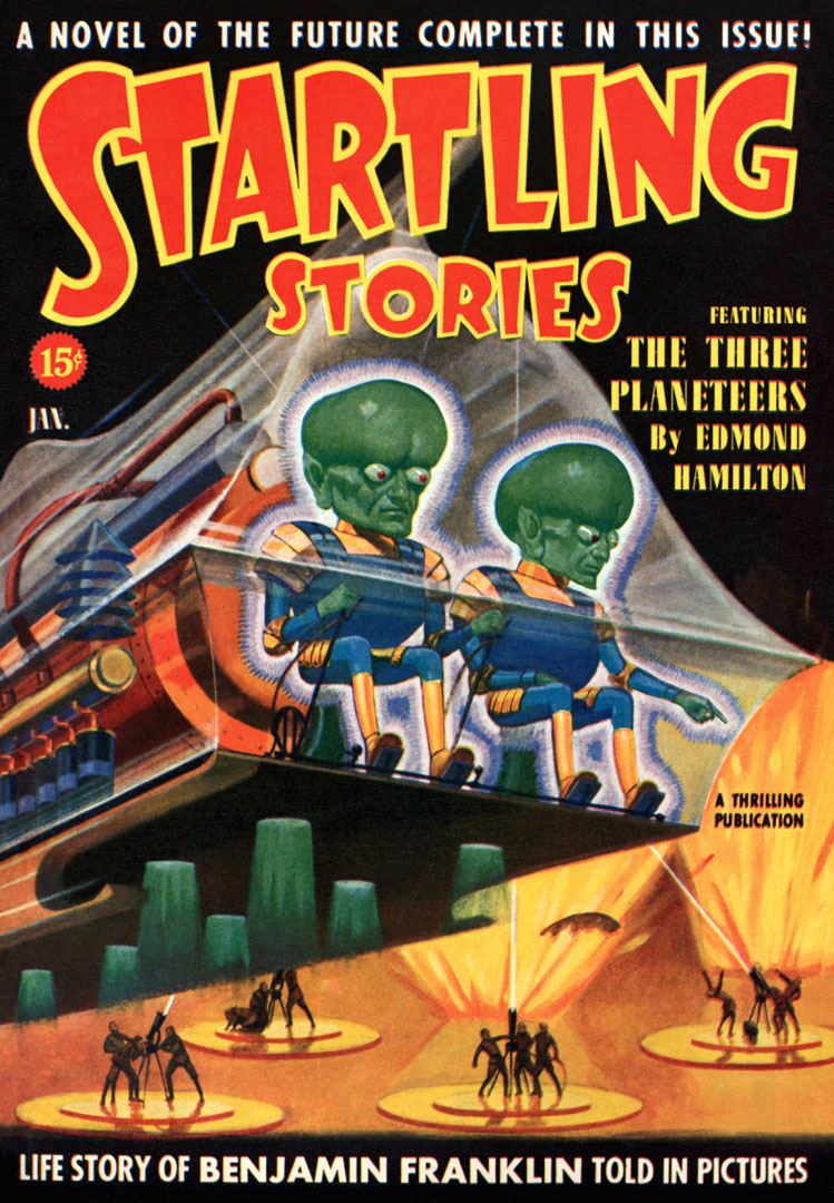 Startling Stories Featuring The Three Planeteers