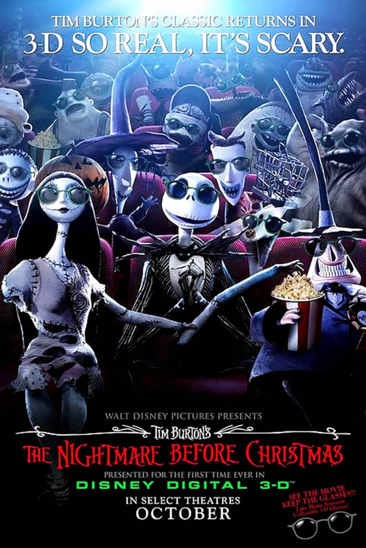 THE NIGHTMARE BEFORE CHRISTMAS 3 D - animated movie posters wallpaper ...