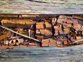 broken bits of wood