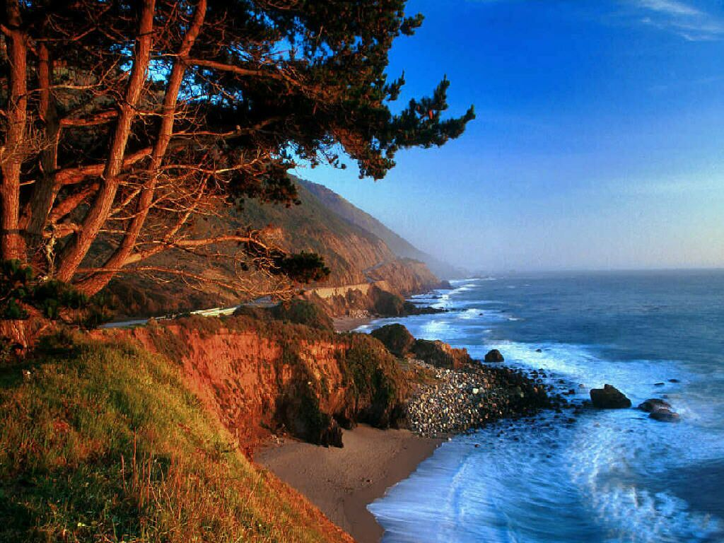 Big sur glow beaches and coasts wallpaper for Best beach in northern california