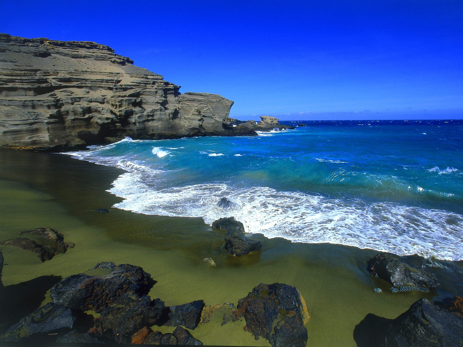 Green Beach Big Island Hawaii