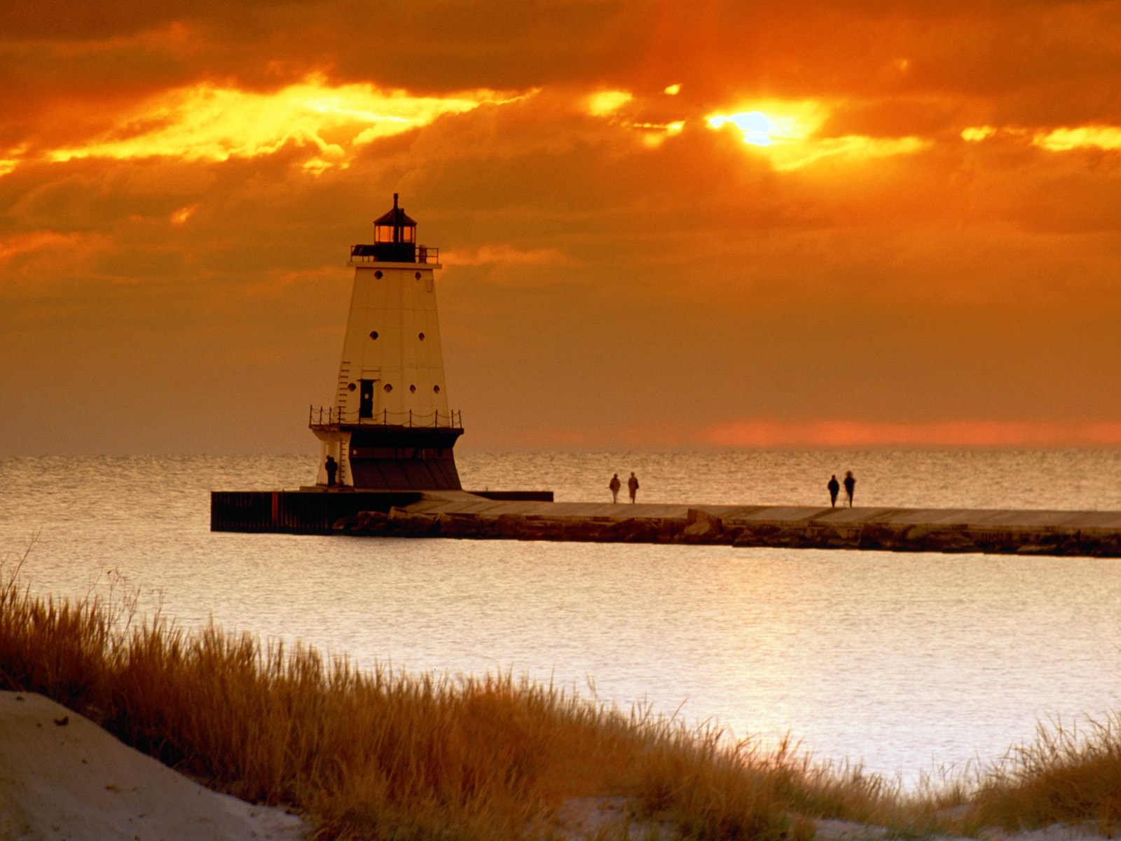 Ludington North Pierhead Lighthouse Michigan