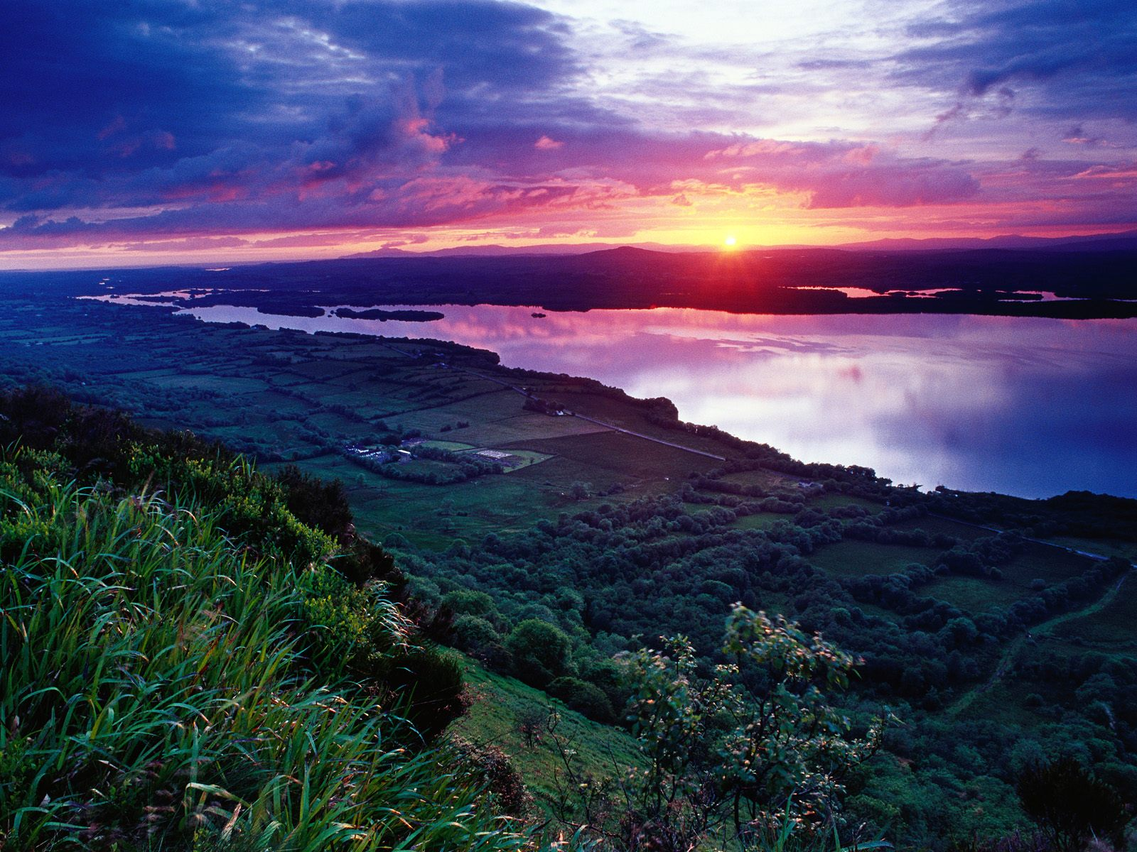 Sunset Across Lower Lough Erne Fermanagh Ireland
