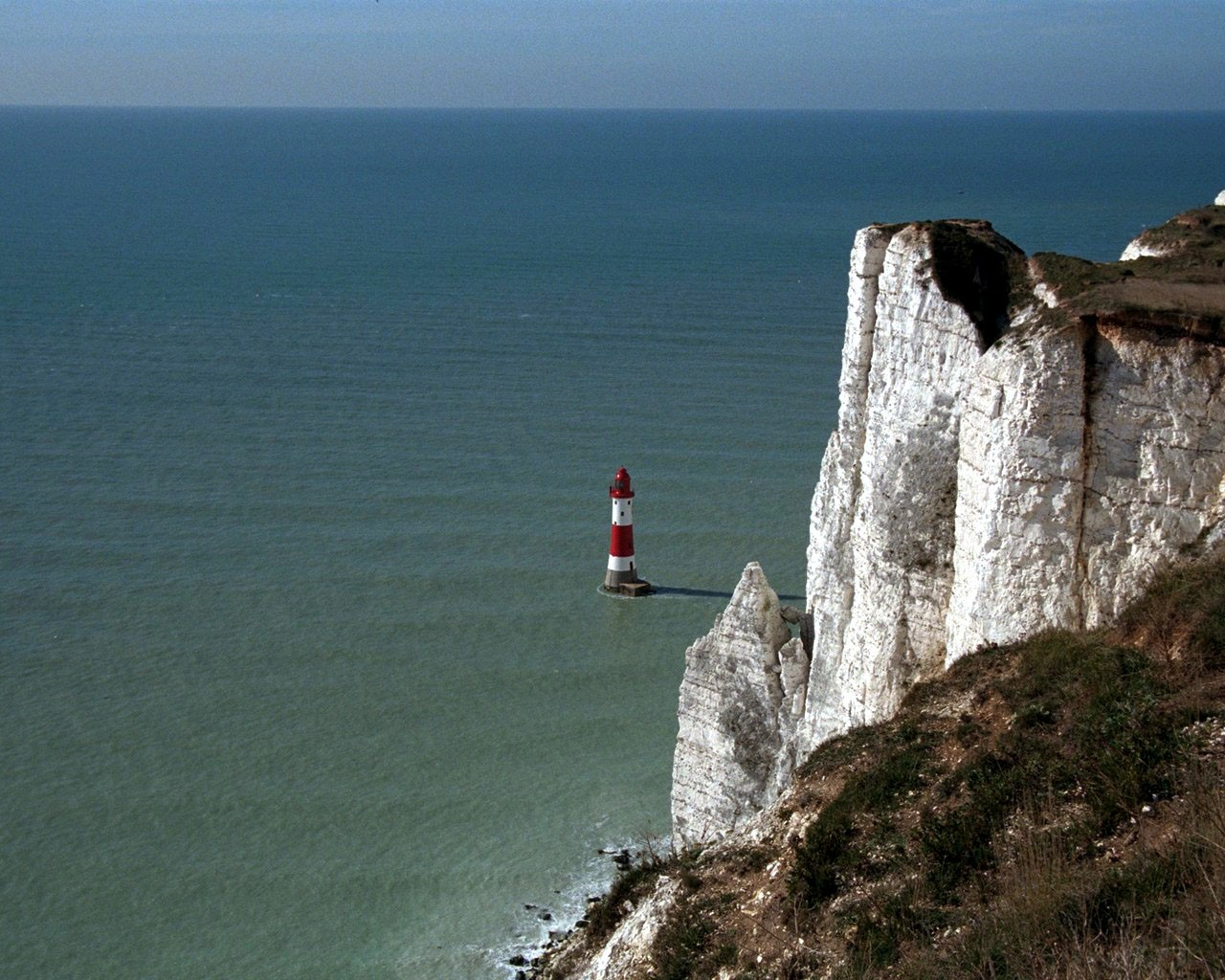 Cliffs Of Dover And Lighthouse