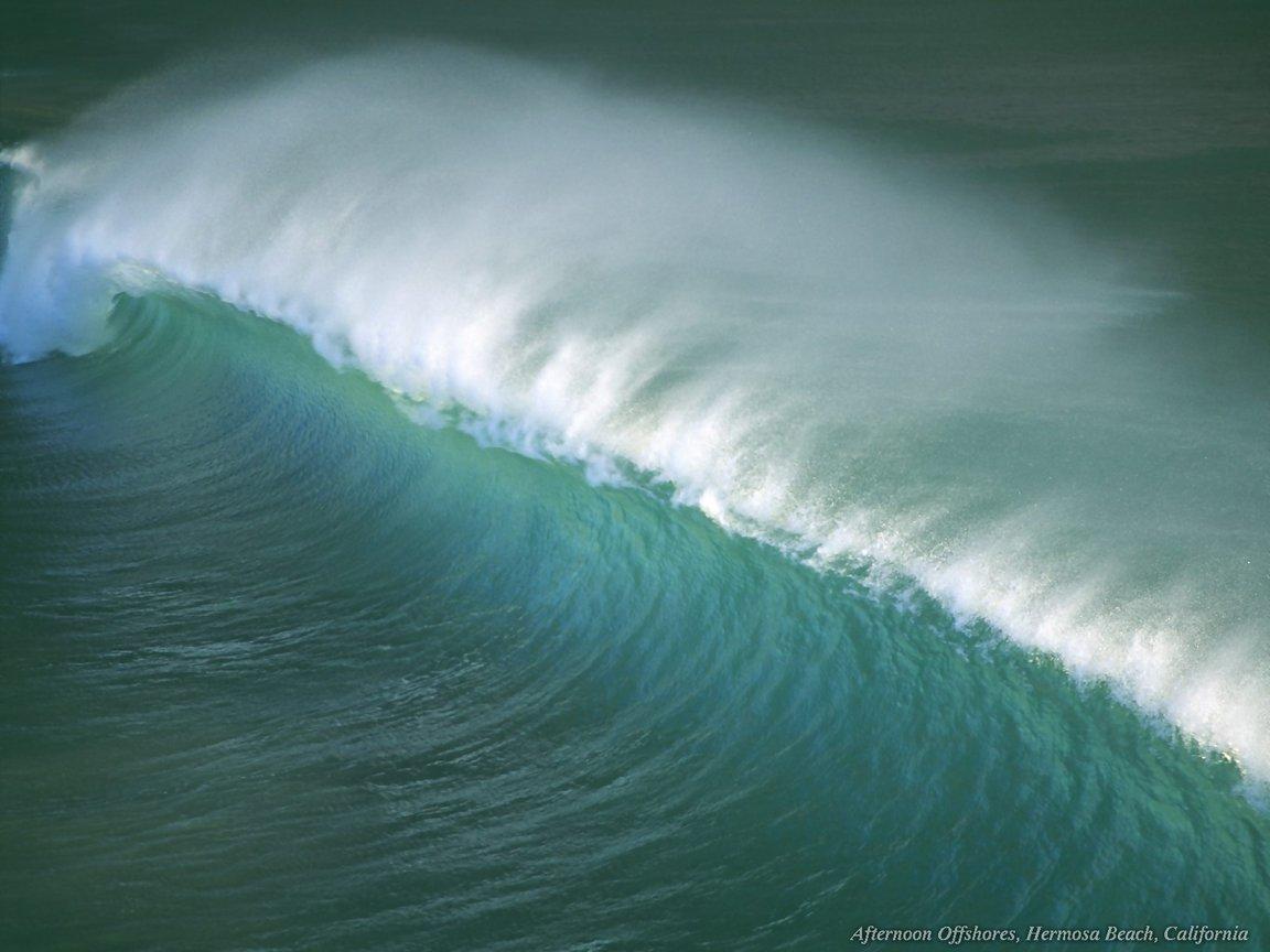 Large Wave At Hermosa Beach California