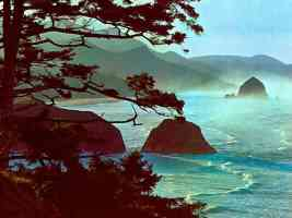 Cannon Beach Ecola State Park Oregon