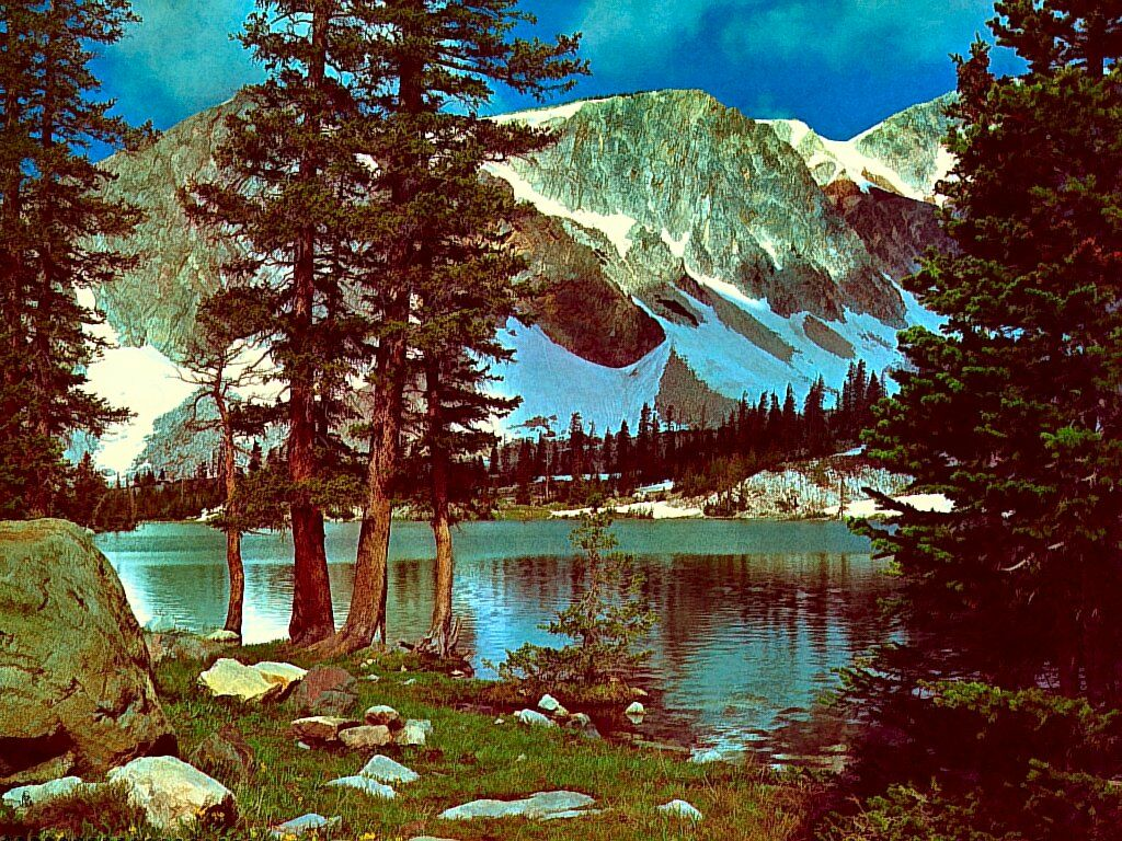 Lake In The Medicine Bow Mountains Wyoming