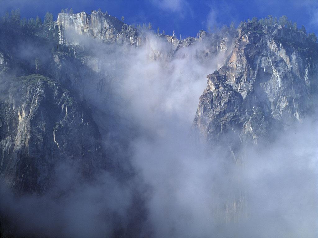 Cliff In Clouds