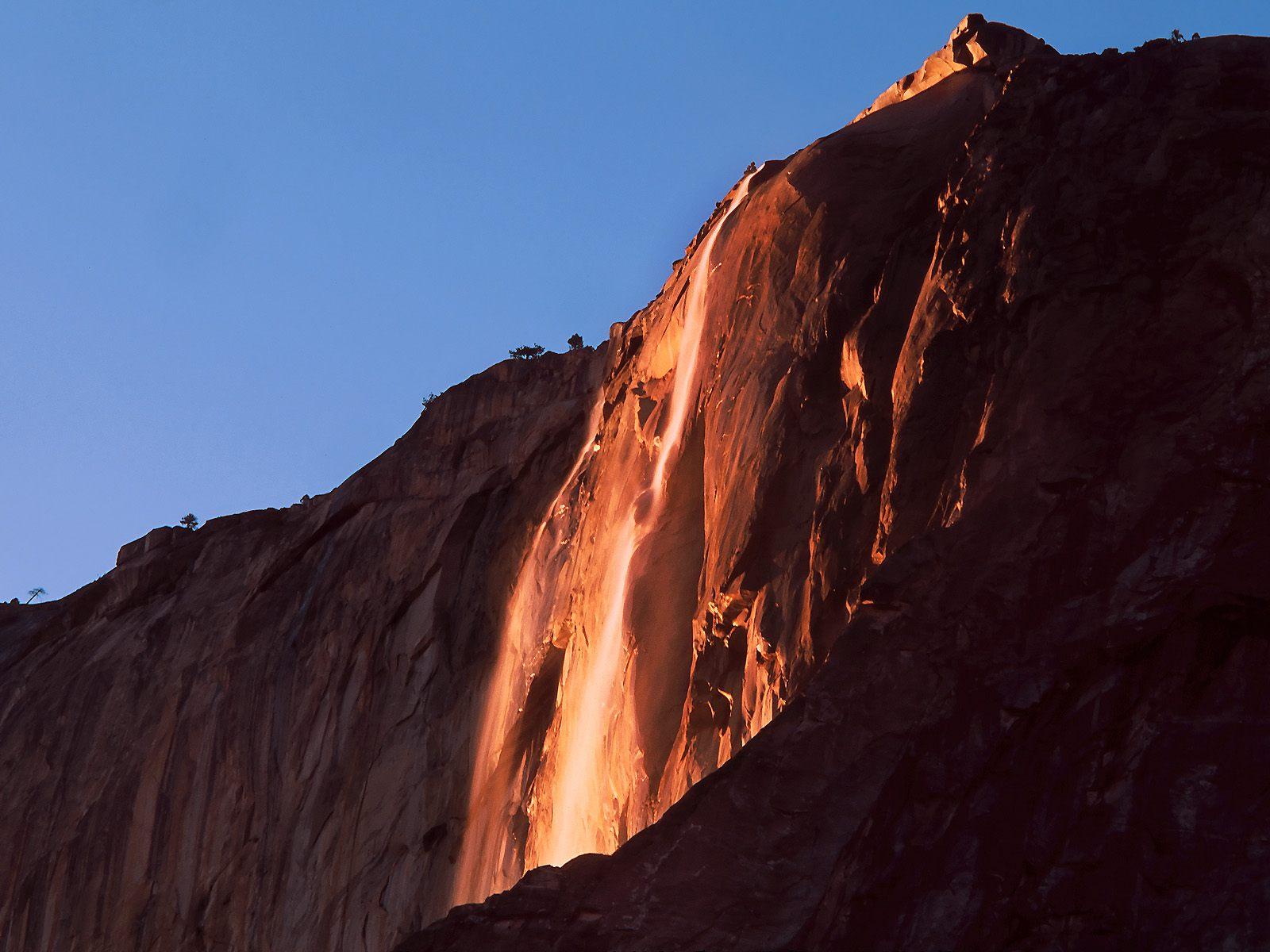 Last Light Horsetail Falls Yosemite National Park California