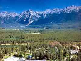 canadian rockies At habasca River Valley