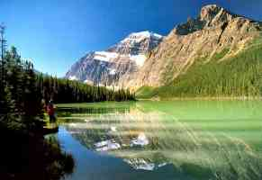 canadian rockies Cavell Lake