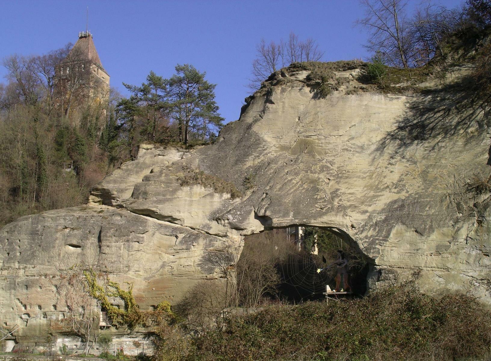 Basse Ville Fribourg Rock Formation