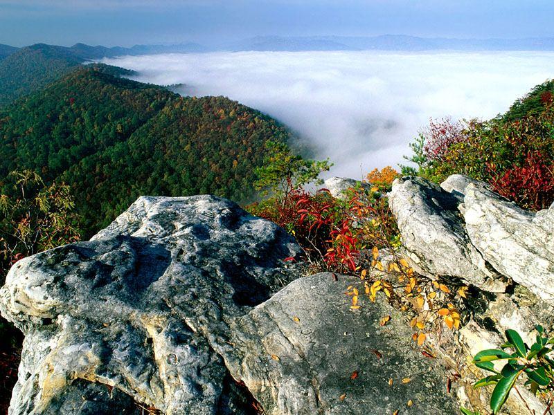 Fog Cumberland Gap National Historical Park Kentucky