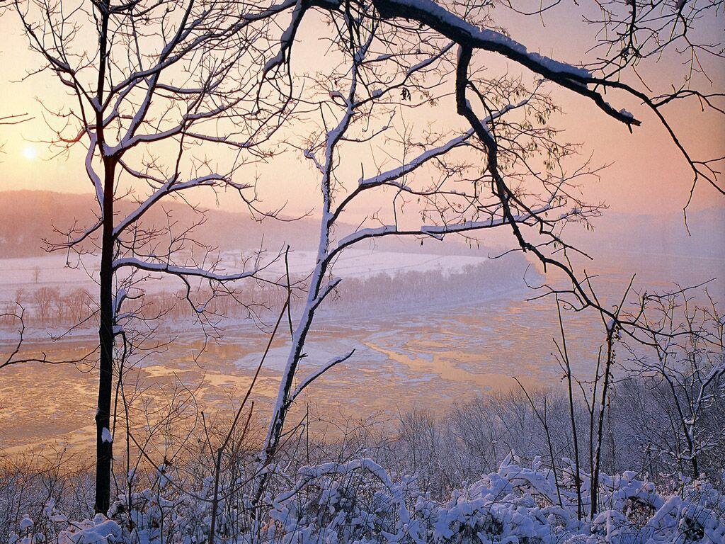 JLM Indiana Ohio River In Snow