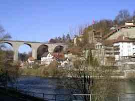Basse Ville Fribourg river
