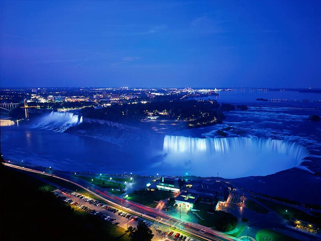 Niagra Falls At Night Canada